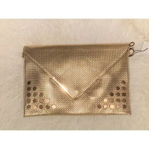 New Gold Envelope Clutch